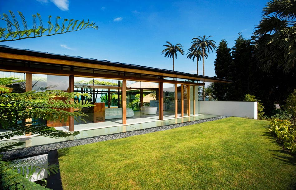 Magnifique maison d architecte verte singapour avec for Aerer une maison
