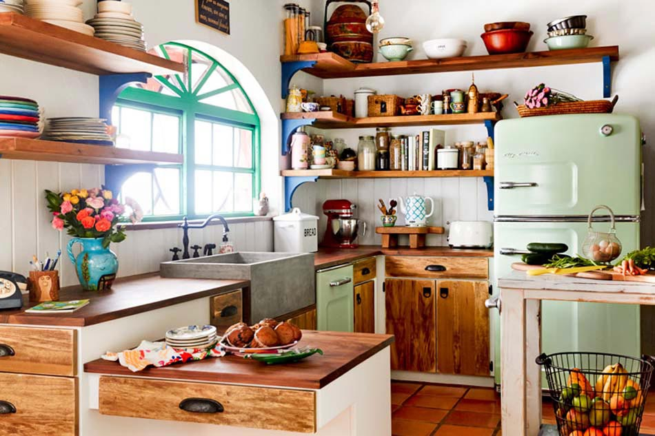Cuisine vintage qui nous fait voyager dans une autre culture style ou poque design feria Deco cuisine campagnarde
