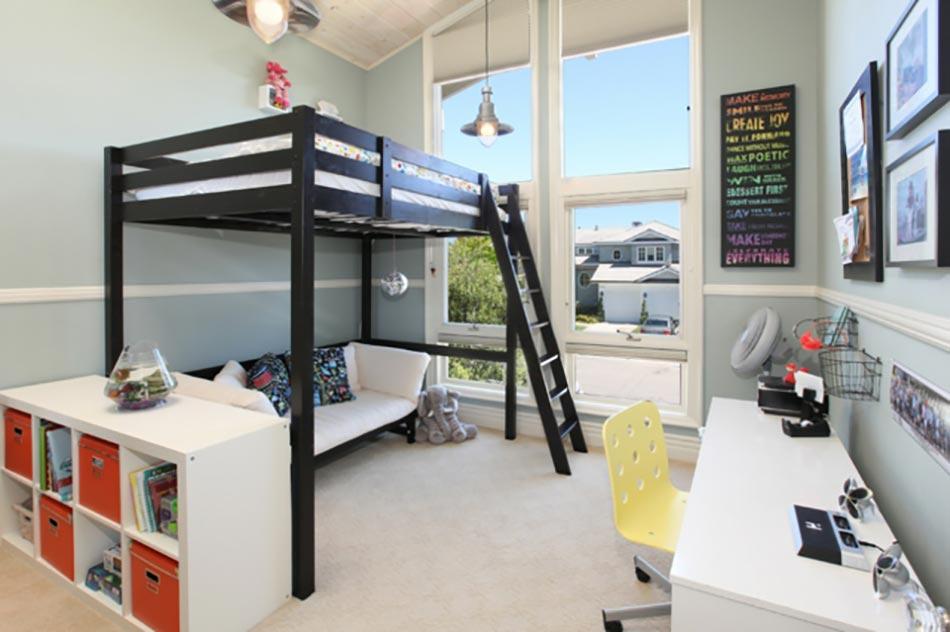 lumineuse et moderne chambre denfant avec lit mezzanine - Chambre Avec Mezzanine