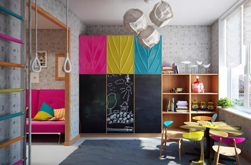 Am nagement chambre d enfant dans un appartement design for Jeu de fille de decoration de maison gratuit