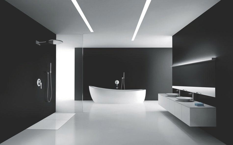 15 id es pour r aliser une salle de bain chic minimaliste - Accessoires salle de bain design noir ...
