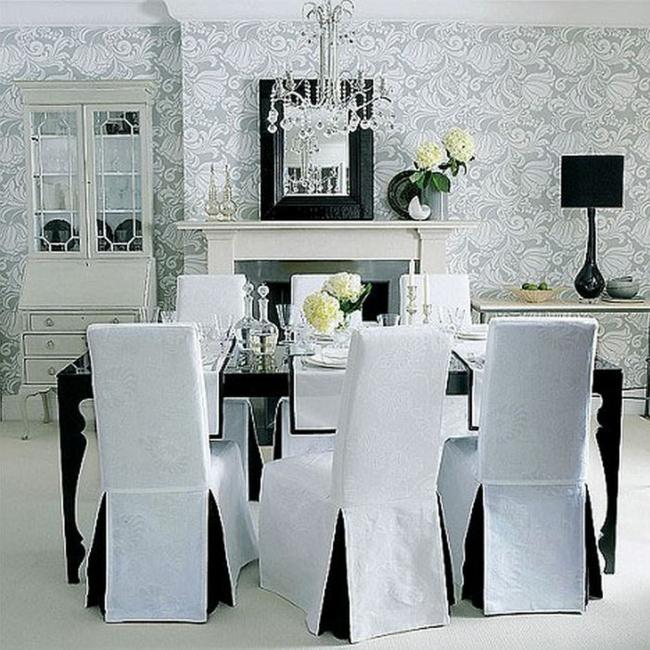 salon salle a manger gris et blanc papier peint design tendances consommer avec mod salle with salon peint en gris - Tapisserie Salon Salle A Manger
