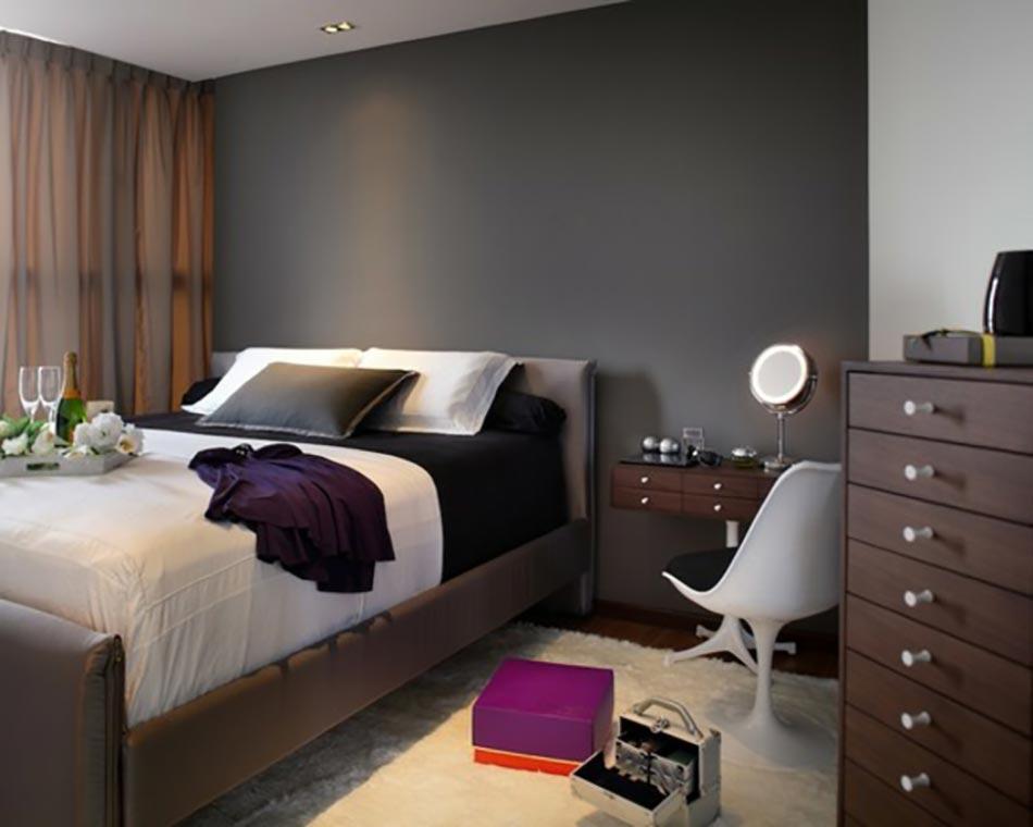 Chambre sol gris fonce ~ Design de maison