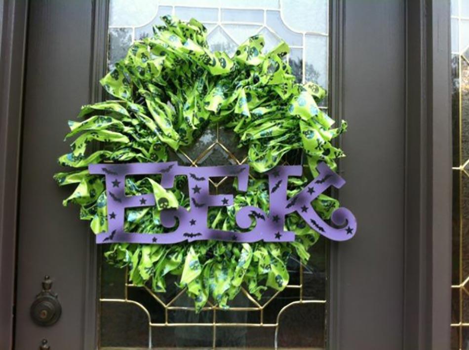 12 couronnes en d coration de porte sp cial halloween for Decoration originales porte