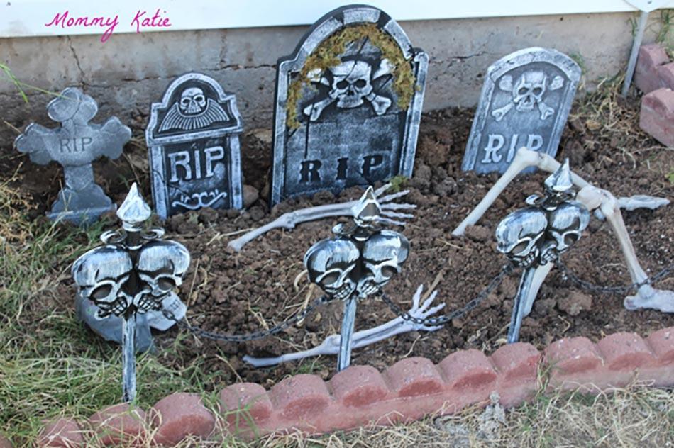 Decoration Halloween Pour Un Jardin Qui Donne La Chair De