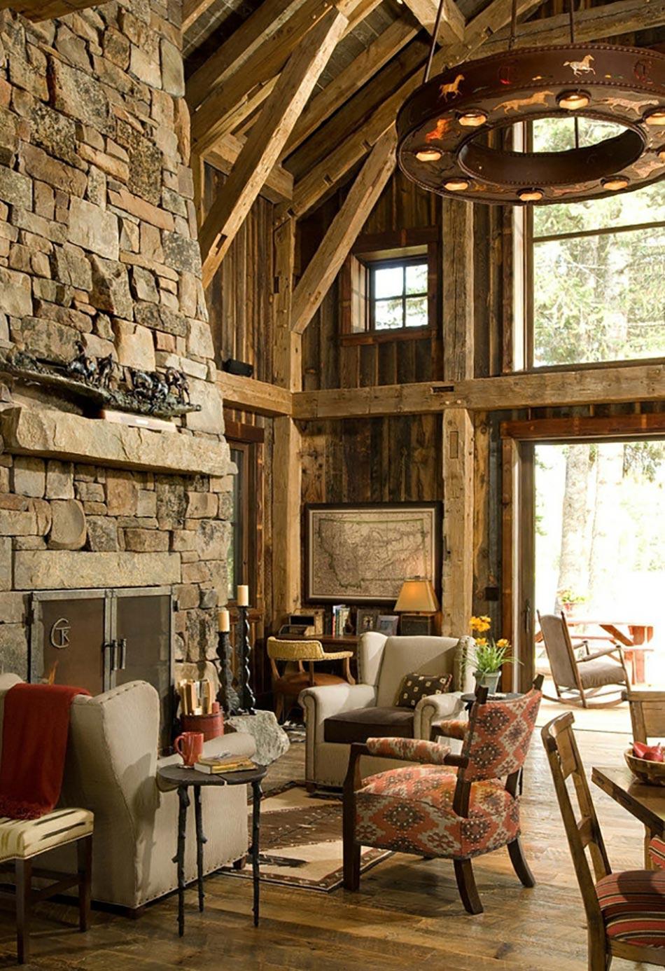 Meubles rustiques pour une ambiance proche de la nature design feria - Interieur chalet berg foto ...