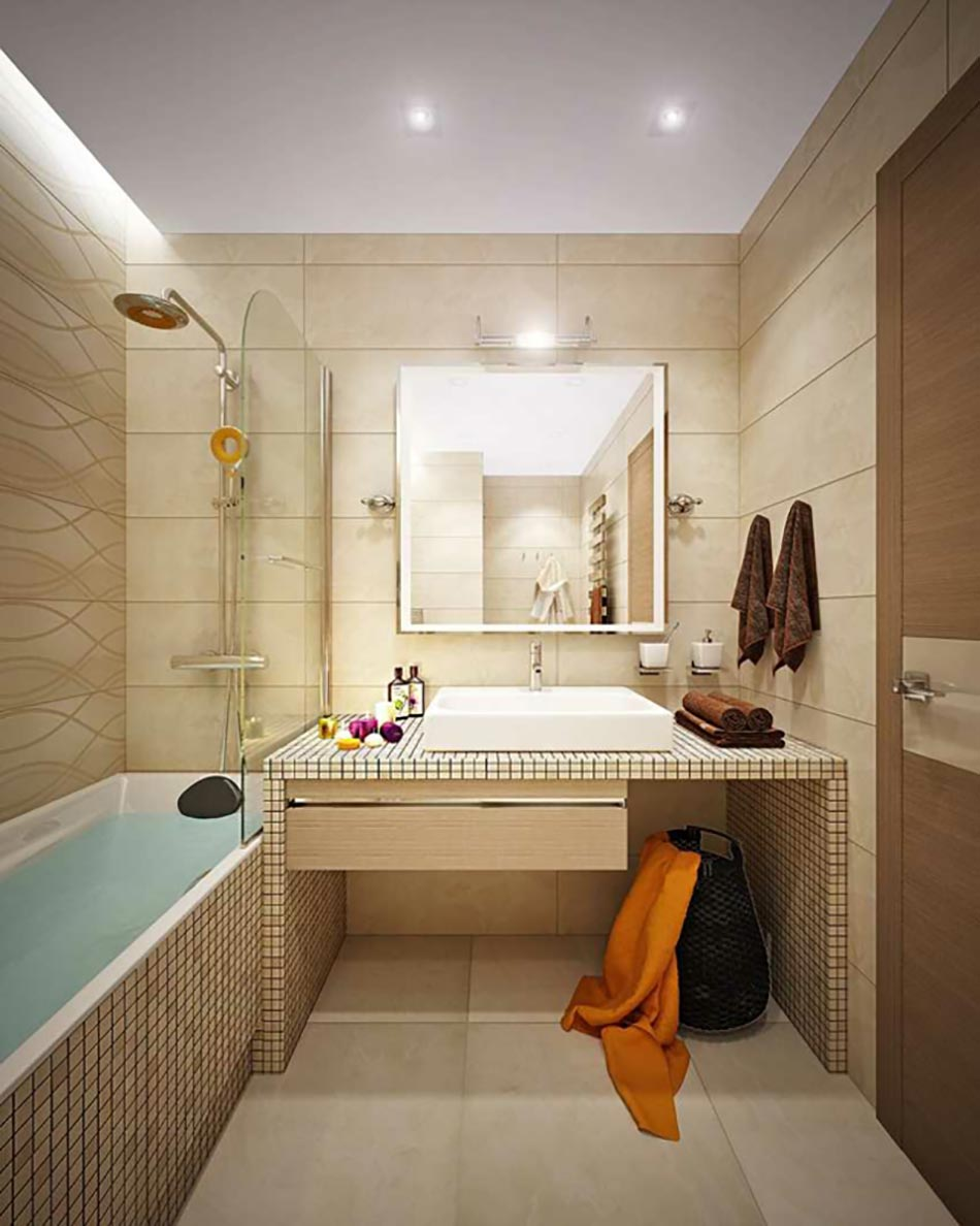 Idee amenagement appartement meilleures images d for Amenagement salle de bain guerande