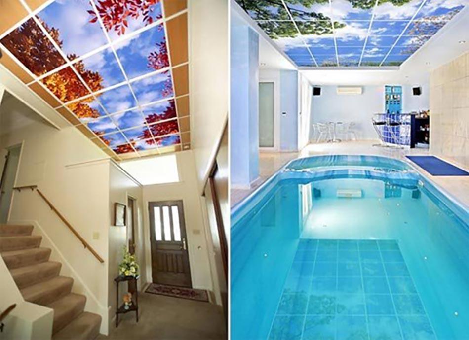 Ciel artificiel ou l id e d co originale pour illuminer un for Decoration faux plafond avec gorge lumineuse