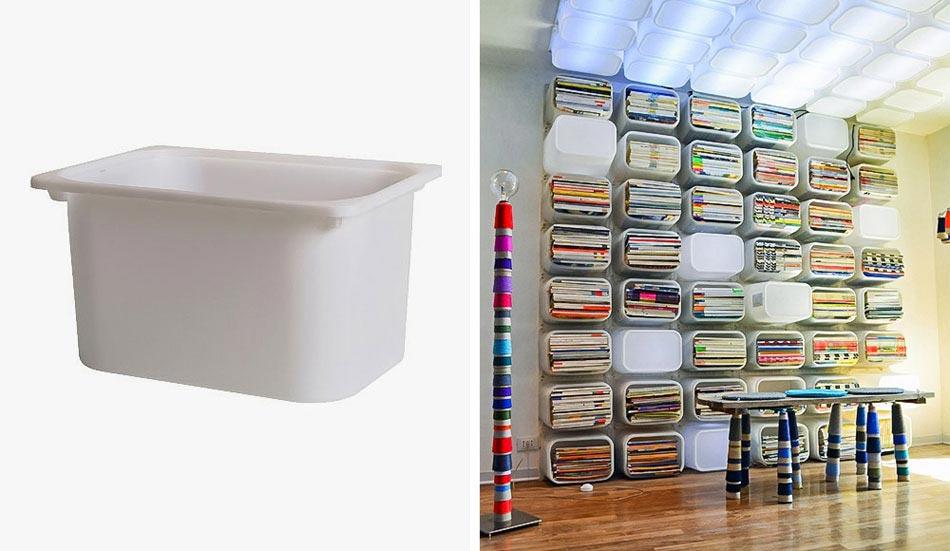 15 id es pour customiser un meuble ikea avec un r sultat original inattendu design feria - Meuble bibliotheque ikea ...