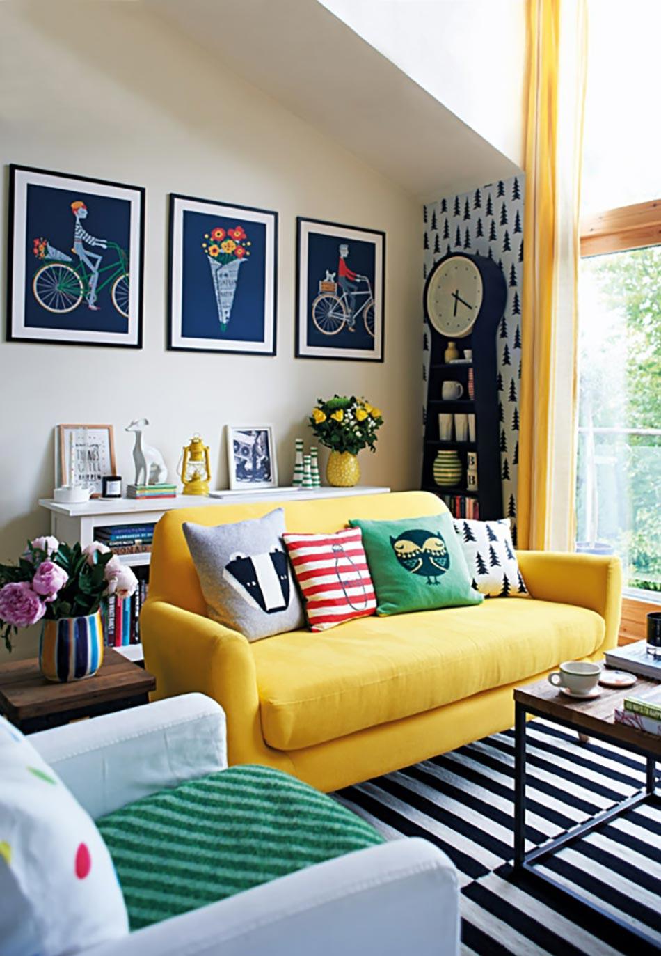 Le jaune pour une d coration int rieure joyeuse design feria for Decoration d un sejour