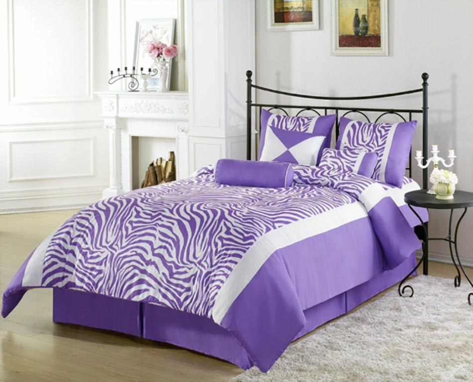 Chambre coucher violet excellent intrieur blanc moderne - Chambre adulte violet ...