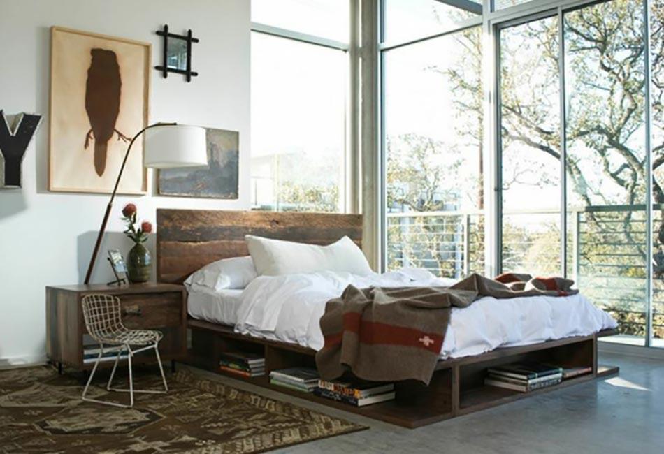 15 chambres de caractère à l\'aide d\'un lit rustique | Design Feria