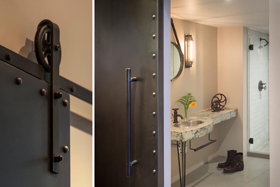 Cr ative et originale salle de bain au design industriel for Interieur industriel
