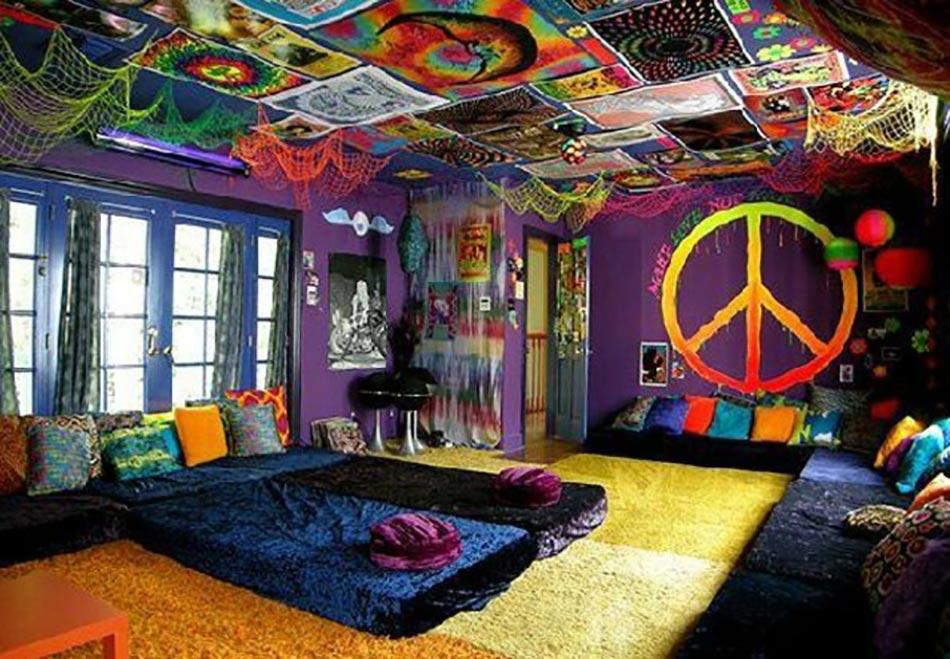 Design intérieur inspiré par des murs aux dessins créatifs ...