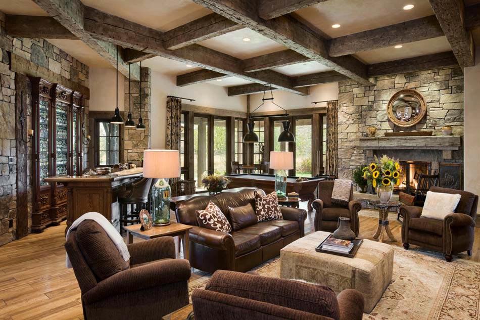 s jour accueillant la d coration rustique dans l esprit de l hiver design feria. Black Bedroom Furniture Sets. Home Design Ideas