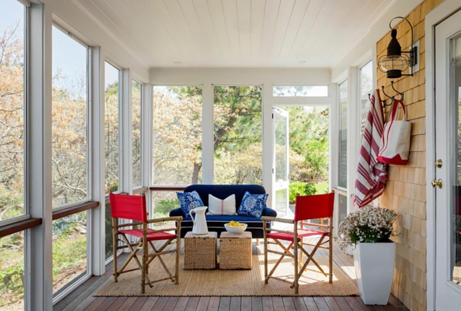 Maisons de vacances la d coration marine cr ative for Decoration veranda interieur