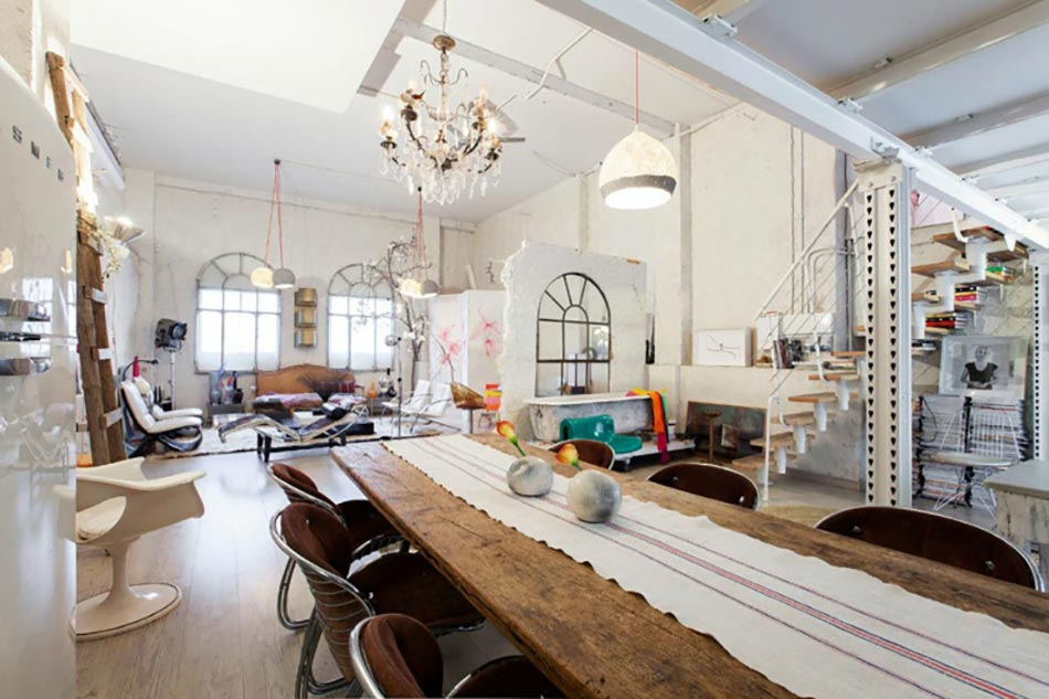 Loft industriel l int rieur clectique au centre de - Interieur eclectique maison mallick design ...