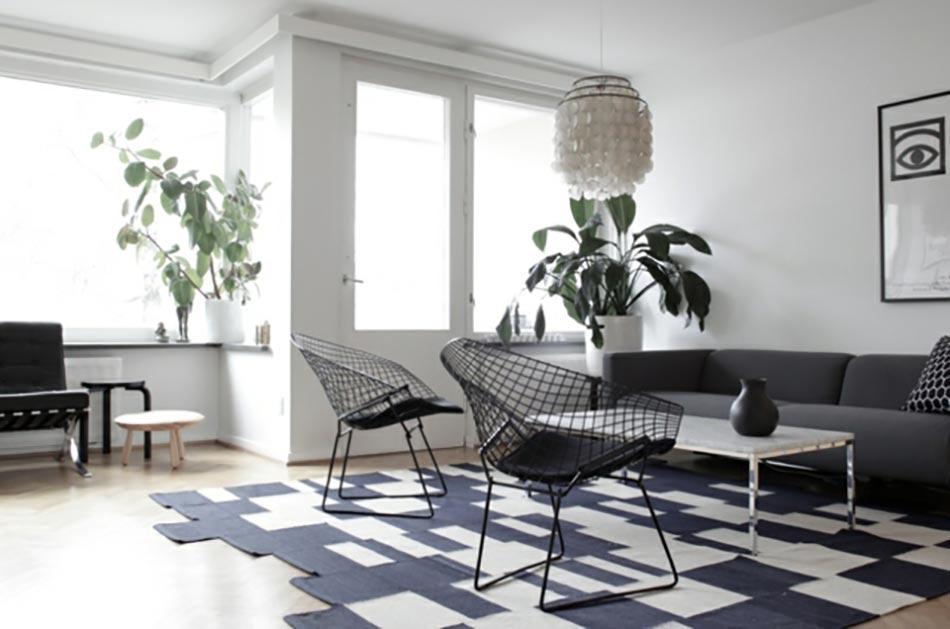 Deco Salon Noir Blanc Violet Pictures to pin on Pinterest