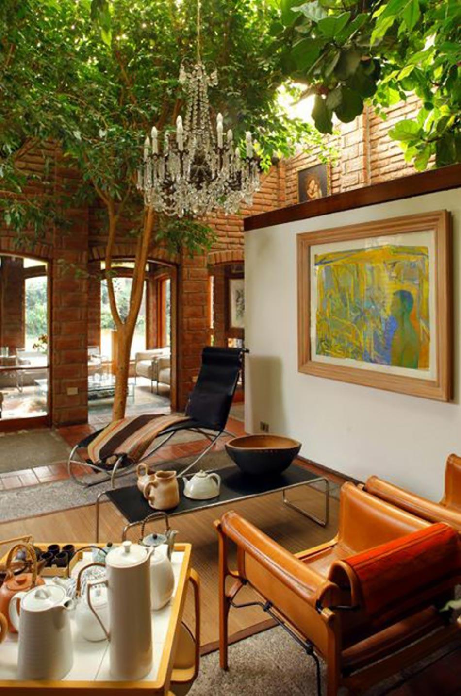Deco salon originale aux l ments verts co design feria for Arbre decoration interieur