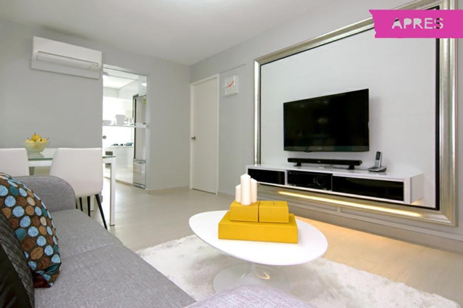 Belle r novation appartement singapour design feria - Couleur tendance appartement ...