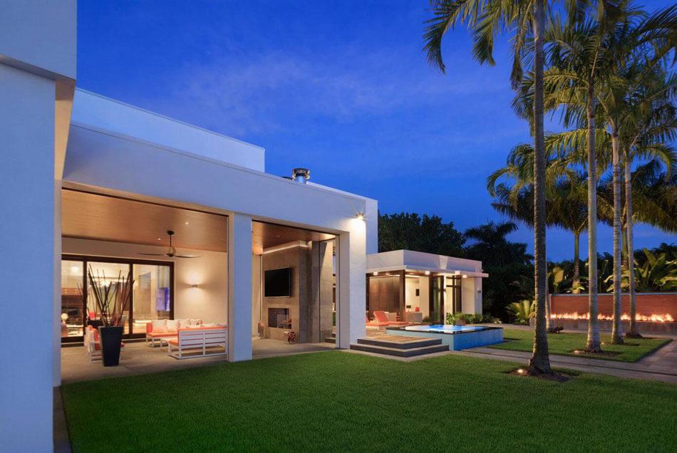 Magnifique r sidence de grand standing en floride au - La demeure moderne gb house par mmeb architects ...