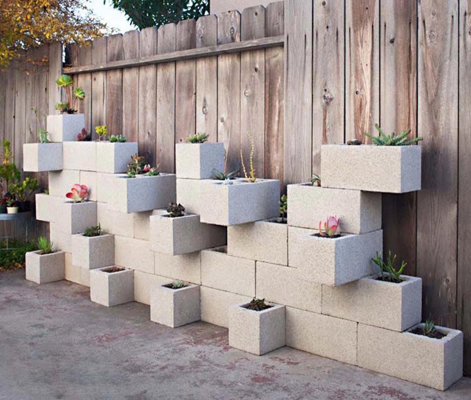 Amenagement Jardin Creatif Et Original A L Aide Des Parpaings