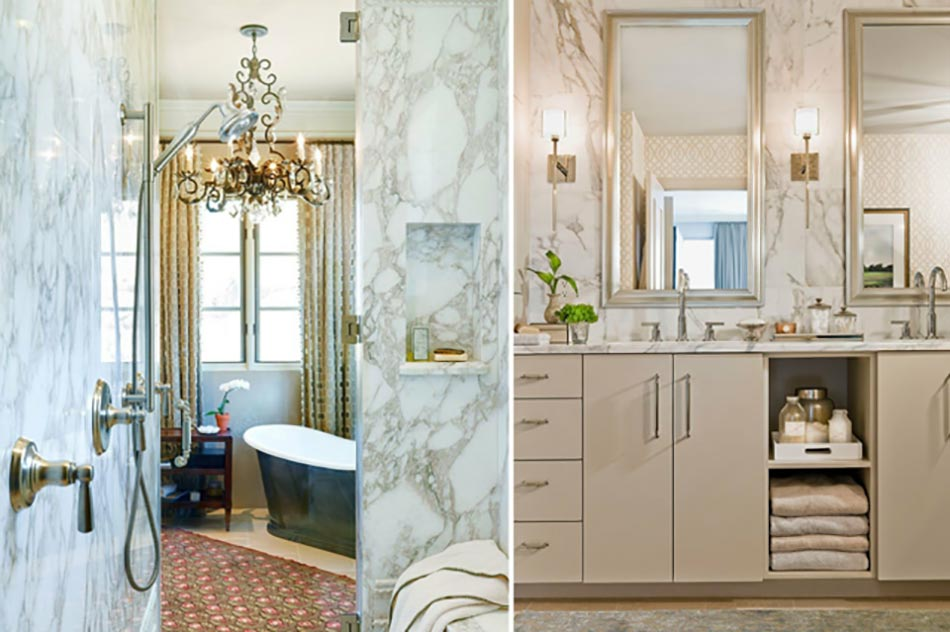 Salle de bain en marbre qui nous fait rever design feria for Salle de bain design avec trouver un décorateur d intérieur pas cher