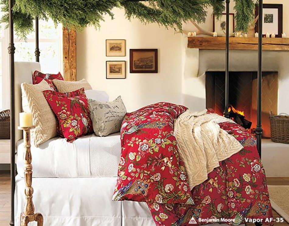 linge de lit deco noel Déco chambre inspirée par Noël   Design Feria linge de lit deco noel
