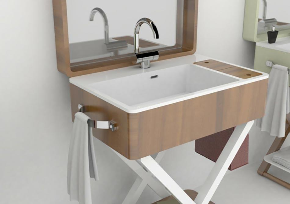 My bag ou le lavabo salle de bain portatif design feria for Salle de bain naturelle