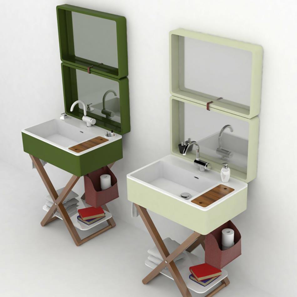 My bag ou le lavabo salle de bain portatif design feria - Lavabo classique salle bain ...