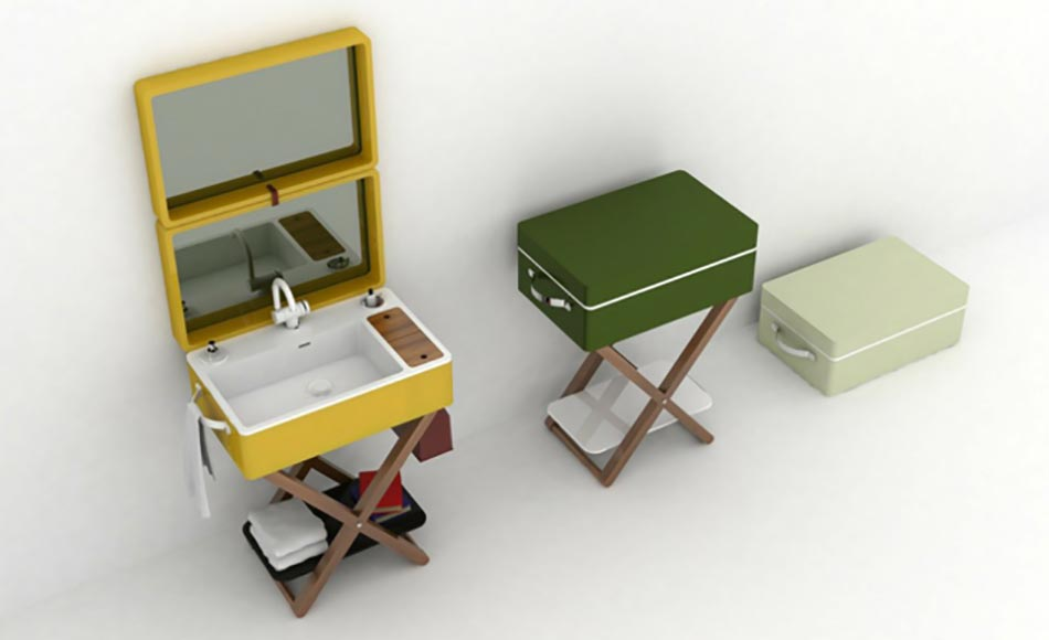 My bag ou le lavabo salle de bain portatif | Design Feria
