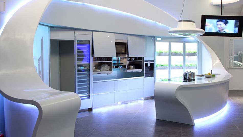Une cuisine design futuriste vue par les yeux des for Objet deco cuisine design