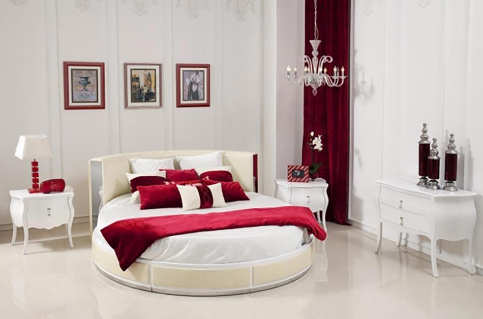 lit rond au c ur d une chambre au design original