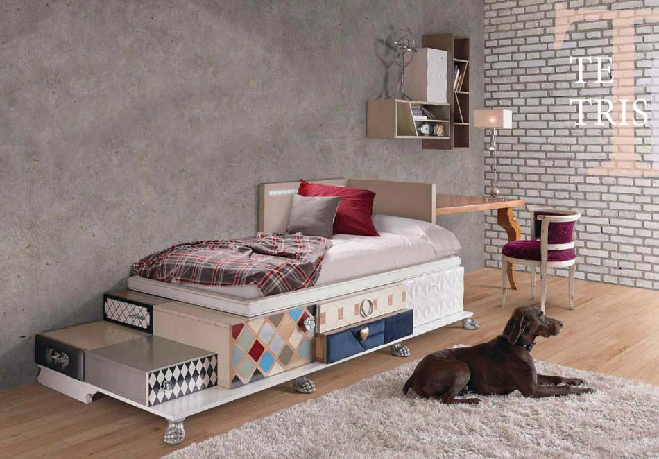 lit d enfant original andys lit gigogne coloris lin avec sommier xcm with lit d enfant original. Black Bedroom Furniture Sets. Home Design Ideas