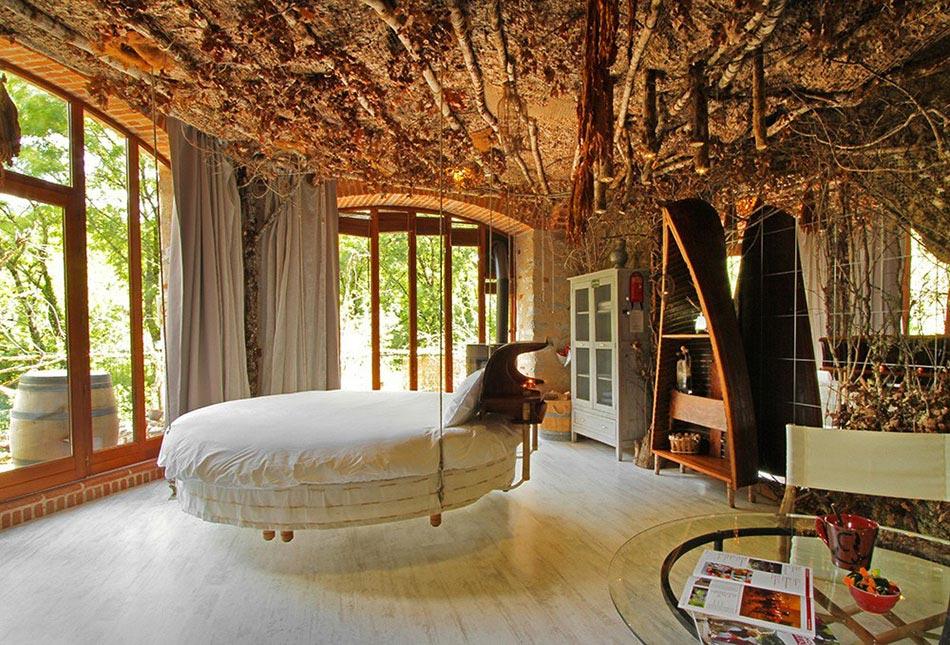La literie originale o lorsque le lit suspendu ne finit pas de nous enchante - Lit mezzanine suspendu ...