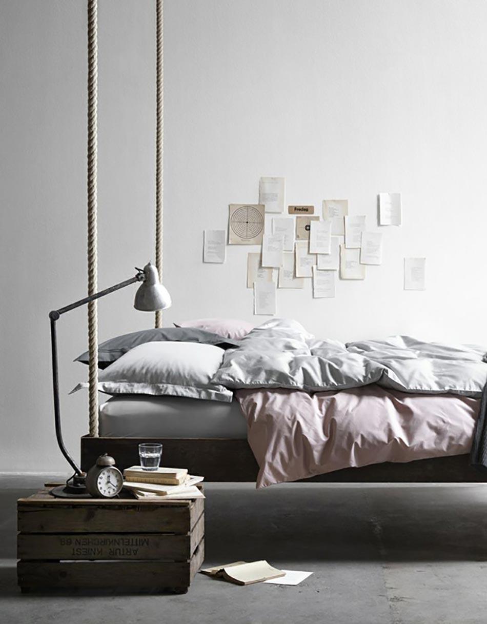 Lit suspendu ou l originalit design dans notre chambre for Lit chambre a coucher moderne