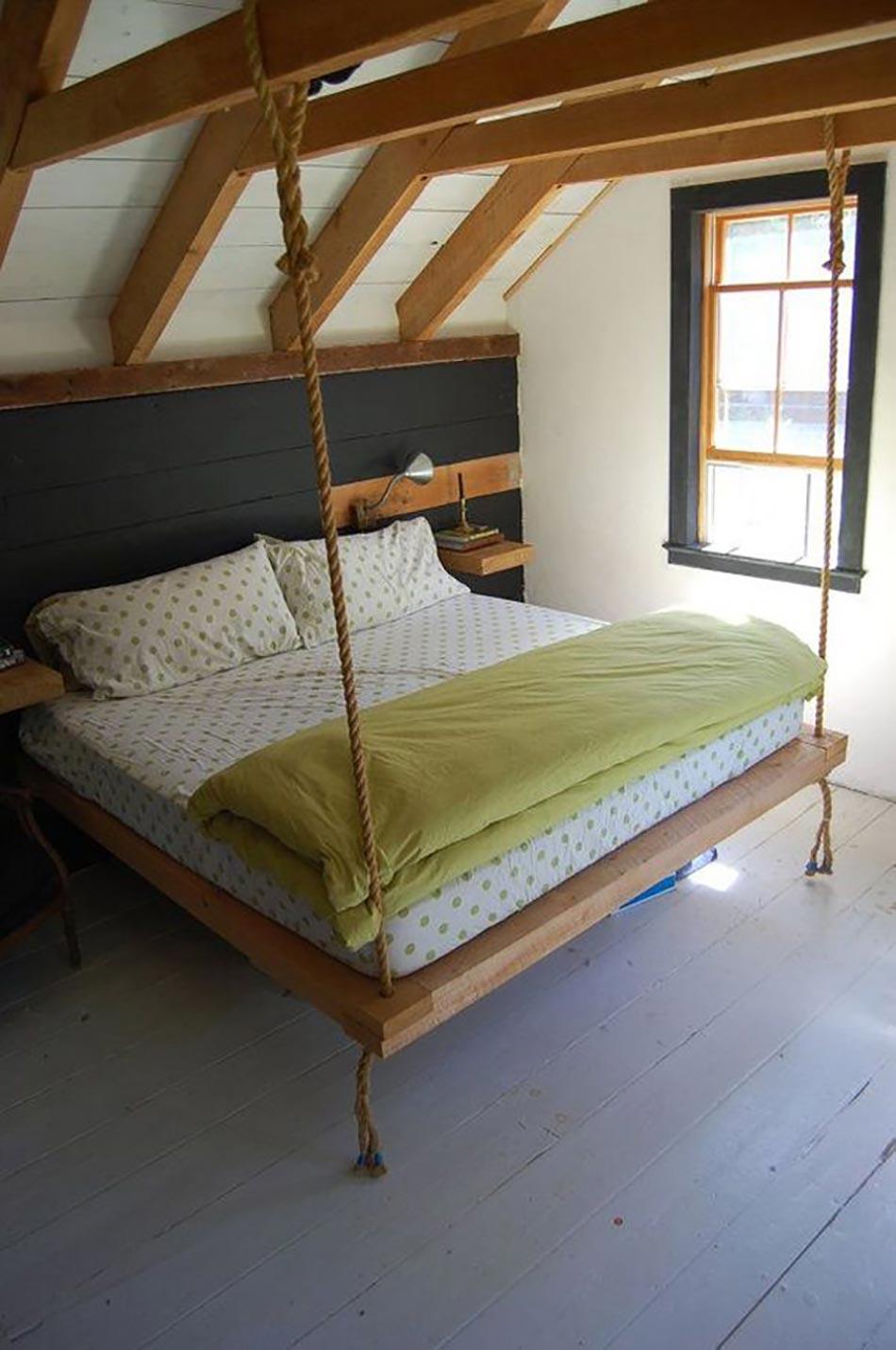 lit suspendu ou l originalit design dans notre chambre. Black Bedroom Furniture Sets. Home Design Ideas