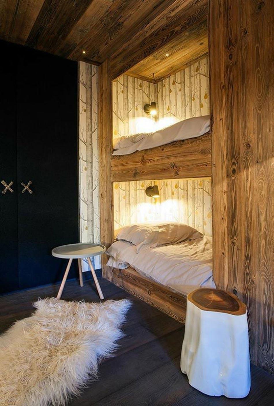L\'intérieur bois rustique : garantie pour la chaleur et le bien ...