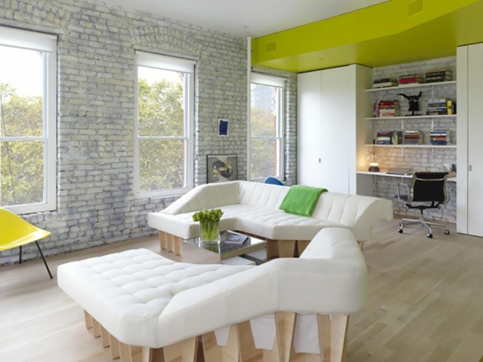 ancien appartement t3 transform en un loft design industriel design feria. Black Bedroom Furniture Sets. Home Design Ideas