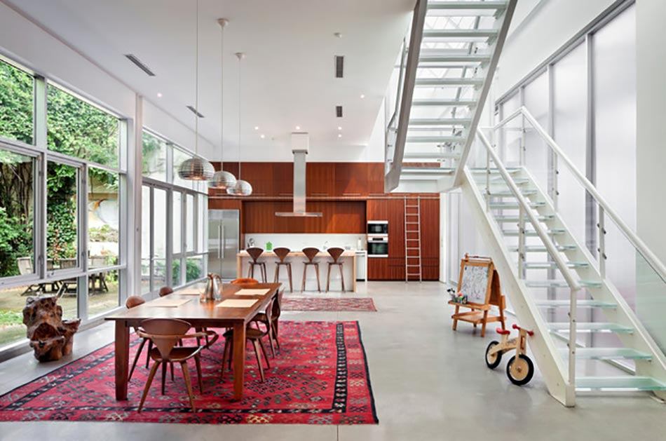 Loft au design intérieur moderne et minimaliste