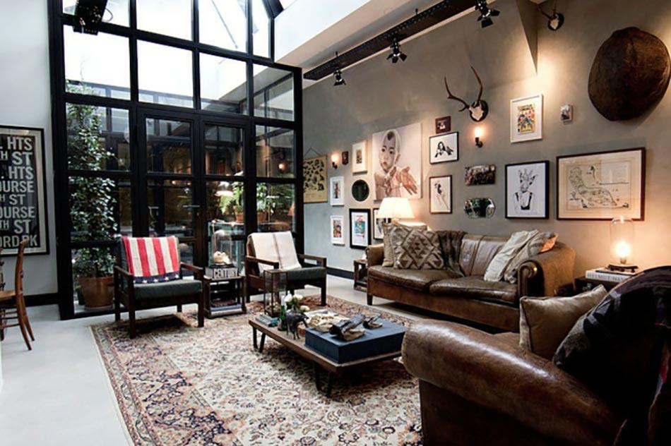 Salle De Bain Turquoise Et Marron : déco maison style industriel