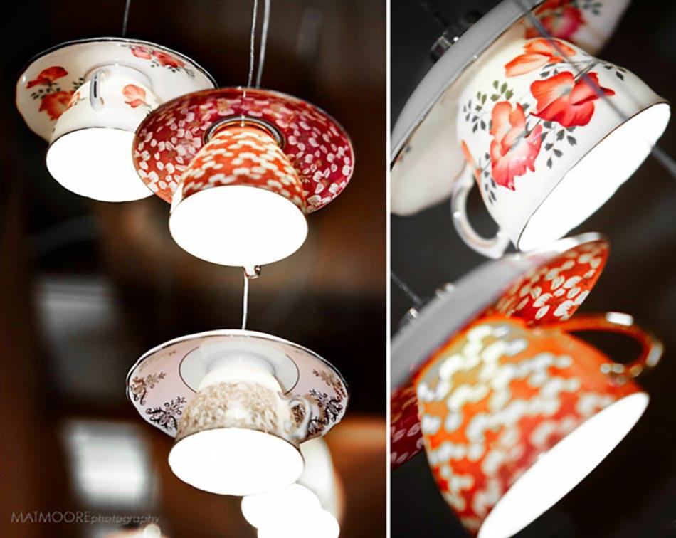 Luminaire Design Inspiré Par Les Tasses Des Boissons Chaudes. Suspension Au Design  Créatif