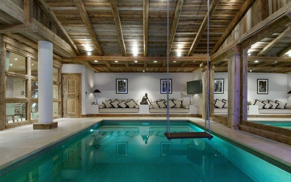 La piscine int rieure un r ve pour profiter de l eau - Vacances a la montagne villa rustique aspen ...