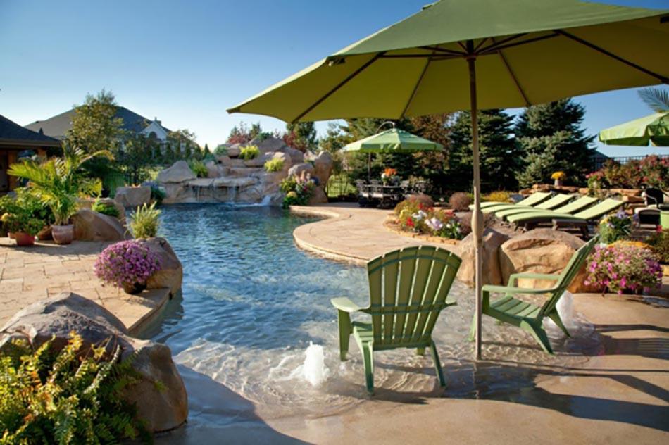 Piscine luxe le c ur des espaces outdoor design feria - Tres belle maison rustique cotiere californie ...