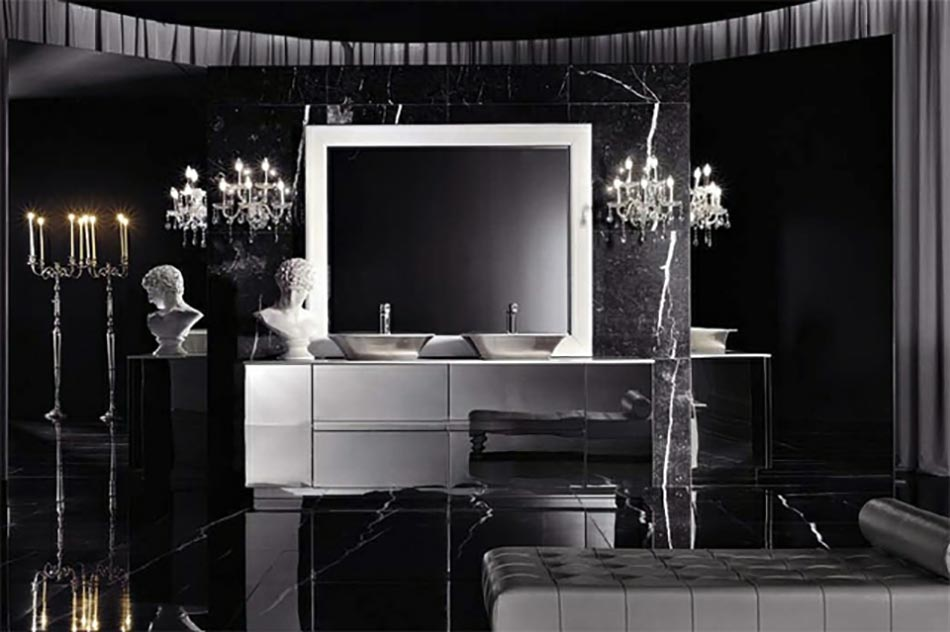 salle de bain de luxe aux inspirations diverses design feria. Black Bedroom Furniture Sets. Home Design Ideas