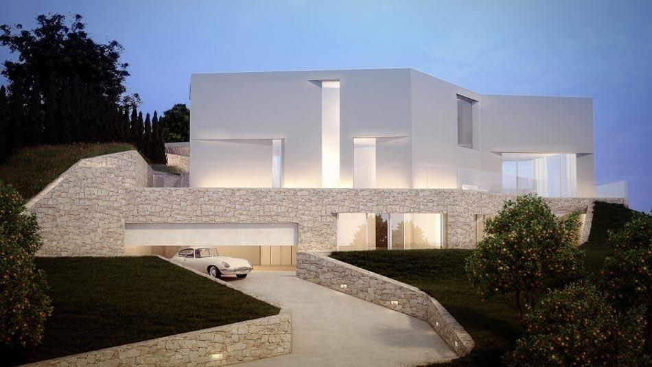 Magnifique maison d architecte sur la c te espagnole - Belle maison d architecte los angeles ...