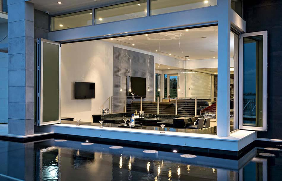 r sidence contemporaine avec vue imprenable sur l eau design feria. Black Bedroom Furniture Sets. Home Design Ideas