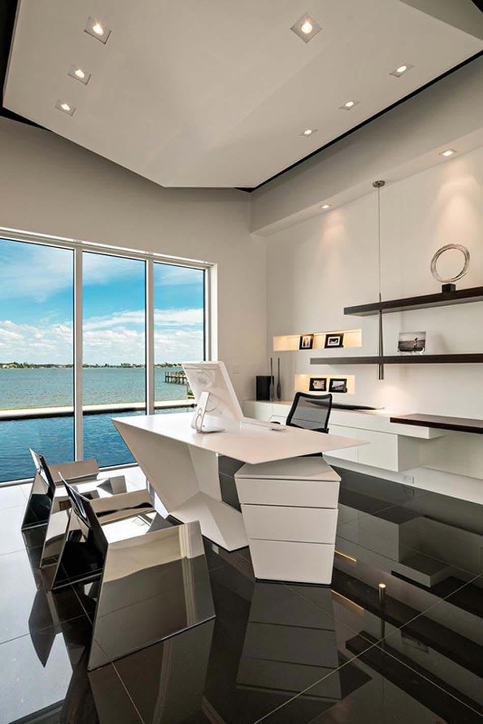 r sidence contemporaine avec vue imprenable sur l eau. Black Bedroom Furniture Sets. Home Design Ideas