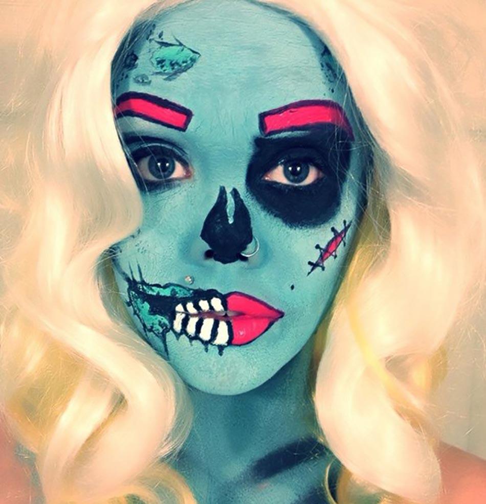 15 exemples de maquillages halloween pour se faire ou faire peur design feria - Modele de maquillage ...