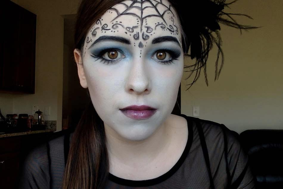 Maquillage halloween araign e - Image maquillage halloween ...